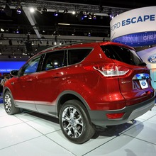 LOS ANGELES, CA., November 16, 2011-- Ford's newest sport utility vehicle, the all-new Escape, makes its debut at the Los Angeles Auto Show.  The Escape which goes on sale next year will feature clever technologies like a hands-free liftgate and deliver improved fuel economy that is expected to top any vehicle of its kind on the market. (11/16/2011)