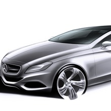 Mercedes-Benz CLS Shooting Brake, (X218), 2012, Designzeichnung